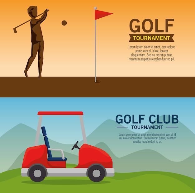 Golfturnier poster