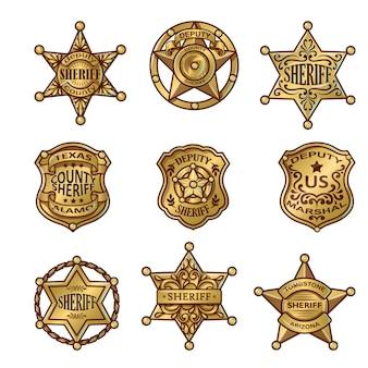 Golgen sheriff abzeichen