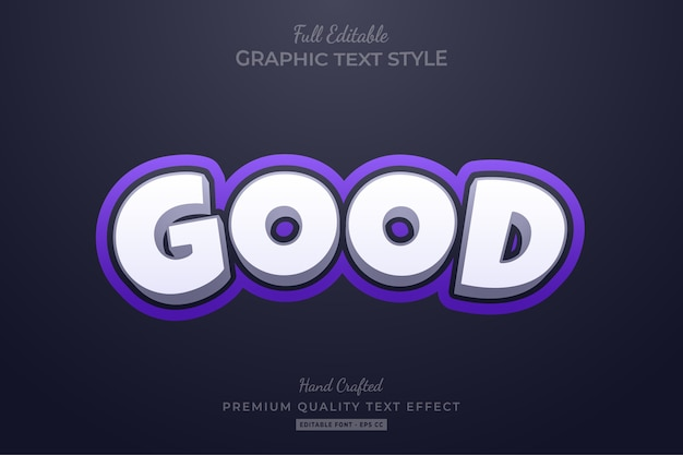 Good purple elegant editable text style effekt premium