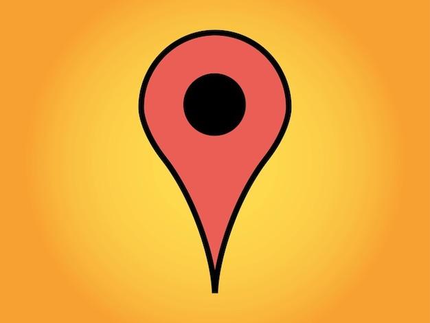 Google maps geografische markierung vektor