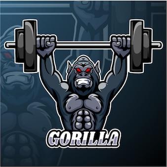 Gorilla esport logo maskottchen design