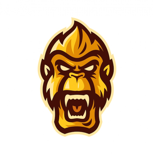 Gorilla esport logo maskottchen vektor-illustration