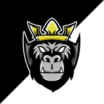 Gorilla esport maskottchen logo illustration
