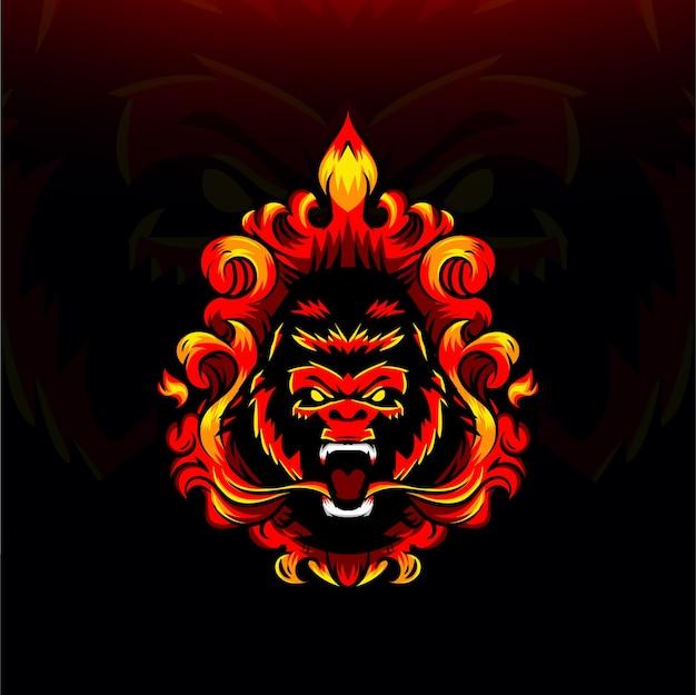 Gorilla fire illustration