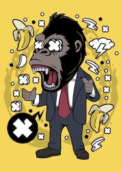 Gorilla geschäftsmann