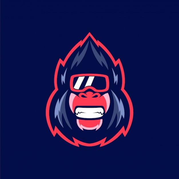 Gorilla glas maskottchen logo