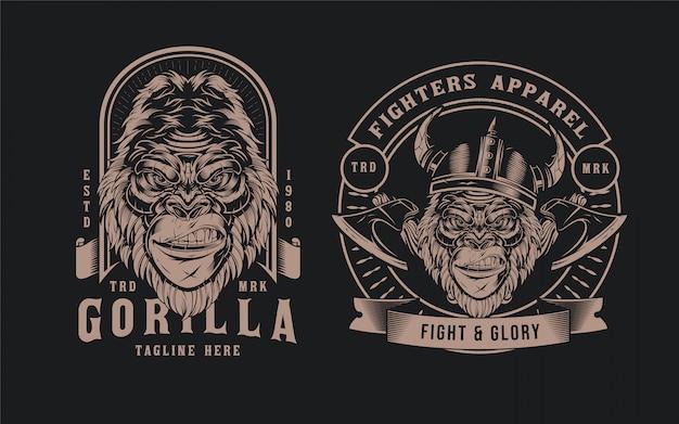 Gorilla head abzeichen
