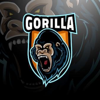 Gorilla head logo esport