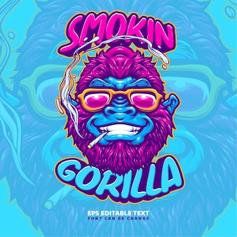 Gorilla illustration logo vorlage