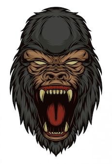 Gorilla kopf abbildung