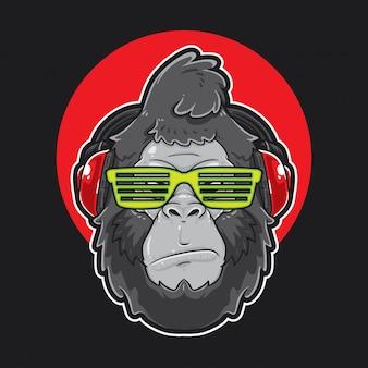 Gorilla Kopf Musik