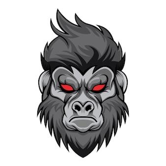 Gorilla kopf vektor