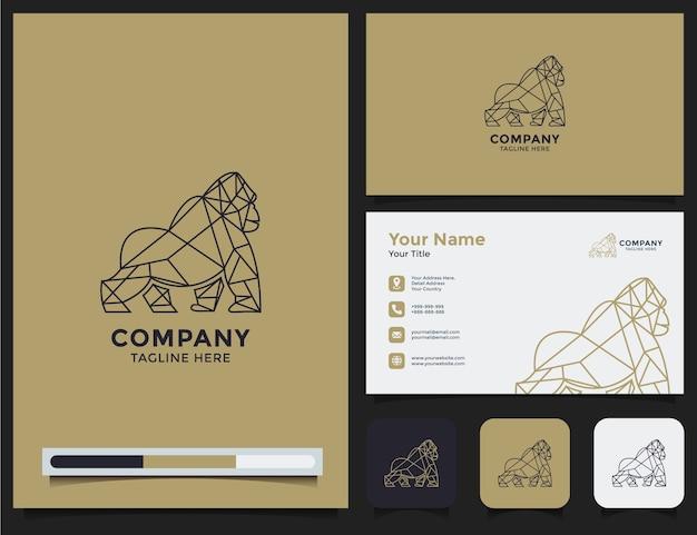 Gorilla-logo und visitenkarte