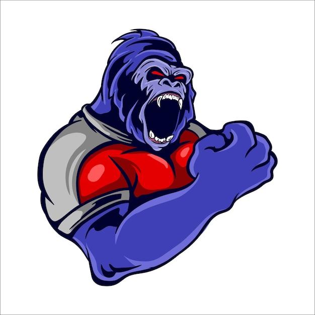 Gorilla-maskottchen-logo