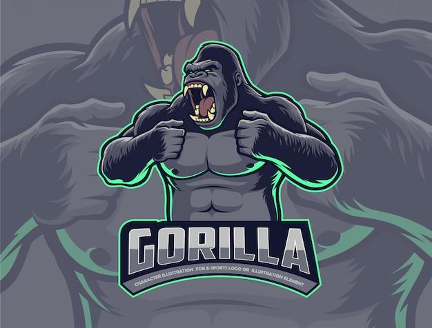 Gorilla schlagen brust