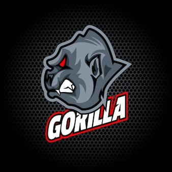 Gorillakopf von der seite. kann für vereins- oder teamlogo verwendet werden.