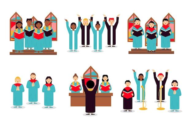 Gospel chor illustration