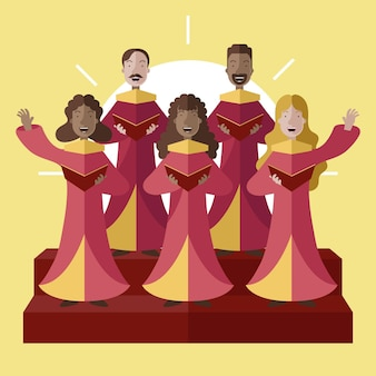 Gospel chor illustration