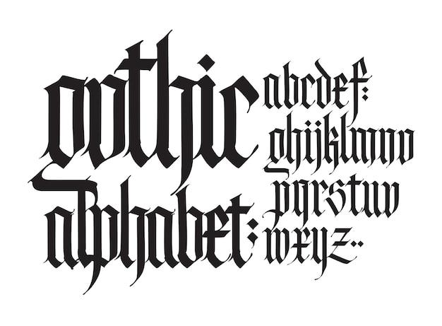 Gotisches englisches alphabet