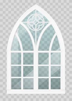 Gotisches fenster aus holz