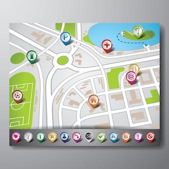 GPS-Bildschirm-Hintergrund