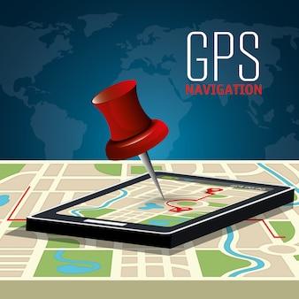 Gps-navigationsdesign