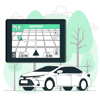 Gps navigator konzept illustration