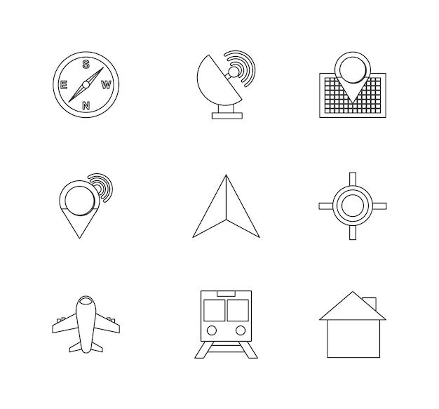 Gps-symbol-design festlegen