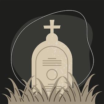 Grabstein auf gras