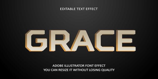 Grace editierbarer texteffekt