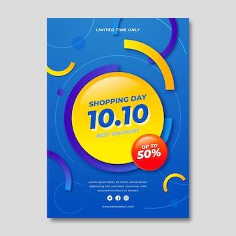 Gradient 10.10 vertikale flyer-vorlage