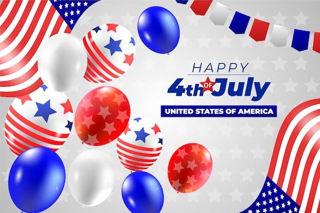 Gradient 4. juli - unabhängigkeitstag ballons hintergrund