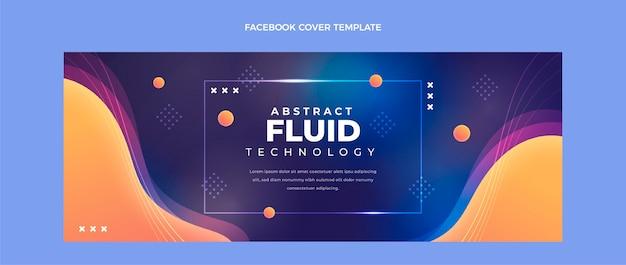 Gradient abstrakte flüssigkeitstechnologie facebook-cover