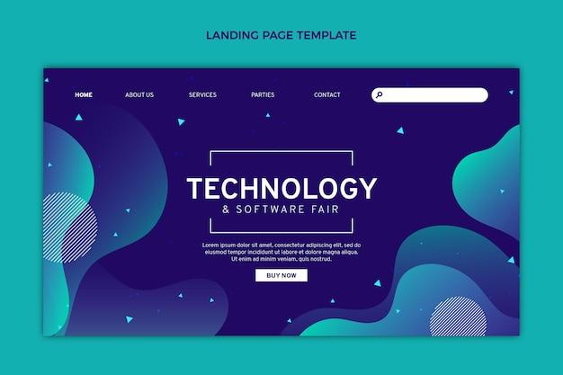 Gradient abstrakte flüssigkeitstechnologie-landingpage