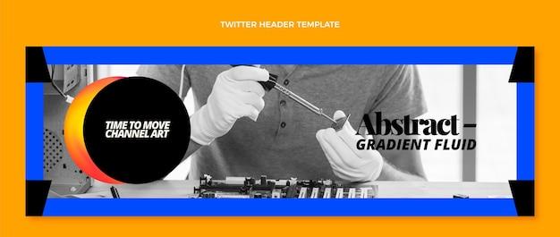 Gradient abstrakte flüssigkeitstechnologie twitter-header