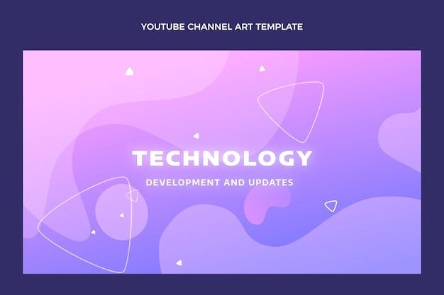 Gradient abstrakte flüssigkeitstechnologie-youtube-kanal
