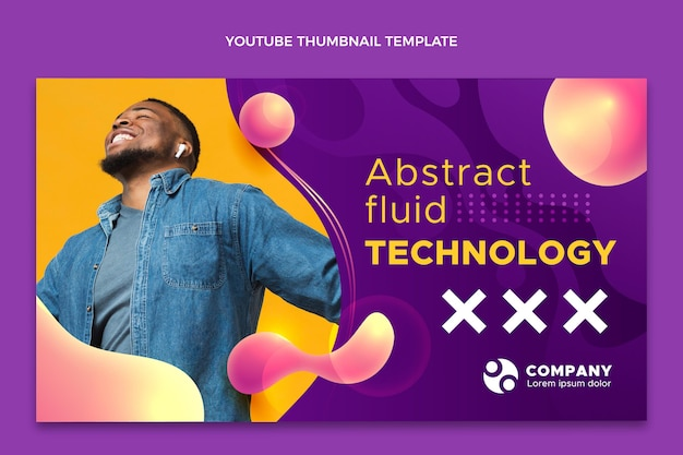 Gradient abstrakte flüssigkeitstechnologie youtube thumbnail