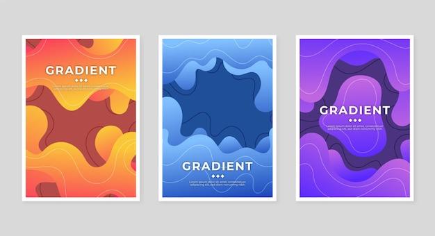 Gradient abstrakte formen decken sammlung ab