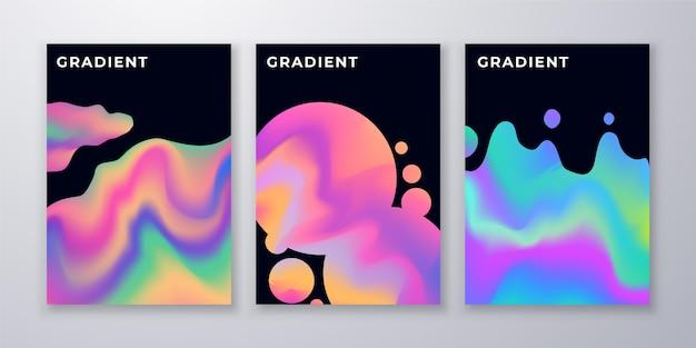 Gradient abstrakte formen deckt packung ab