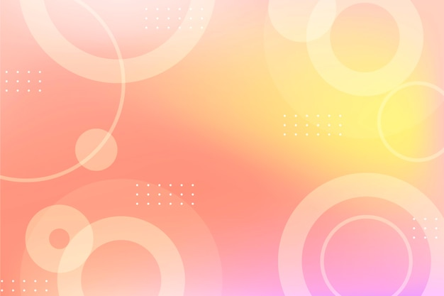 Gradient abstrakte kreisformen hintergrund