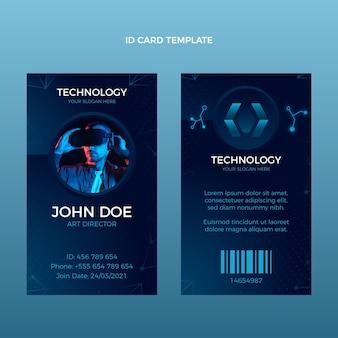 Gradient abstrakte technologie-id-karte