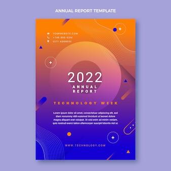 Gradient abstrakte technologie-jahresberichtsvorlage