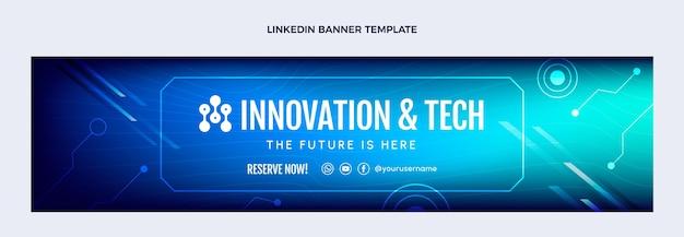 Gradient abstrakte technologie linkedin banner