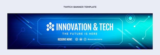 Gradient abstrakte technologie zuckendes banner