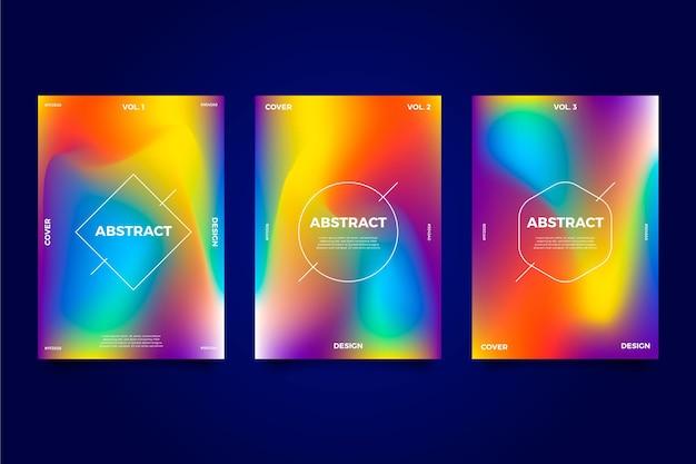Gradient abstrakte verschwommene cover-vorlage
