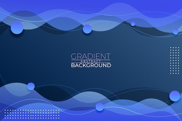 Gradient abstrakter hintergrund blauer stil