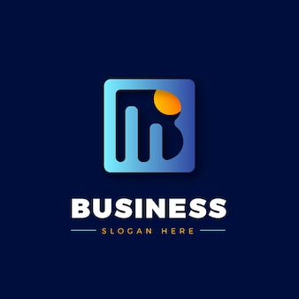 Gradient accounting logo vorlage
