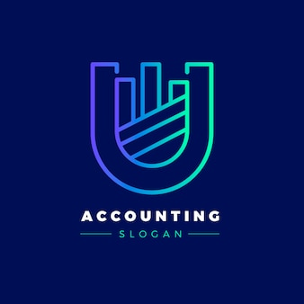 Gradient accounting logo vorlage