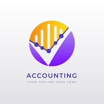 Gradient accounting logo vorlage Premium Vektoren
