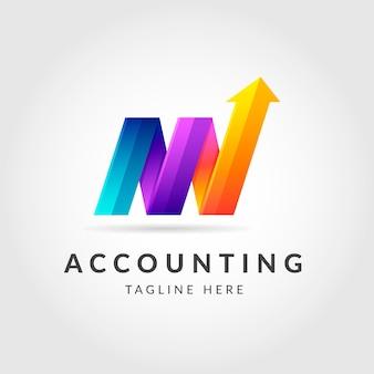 Gradient accounting logo